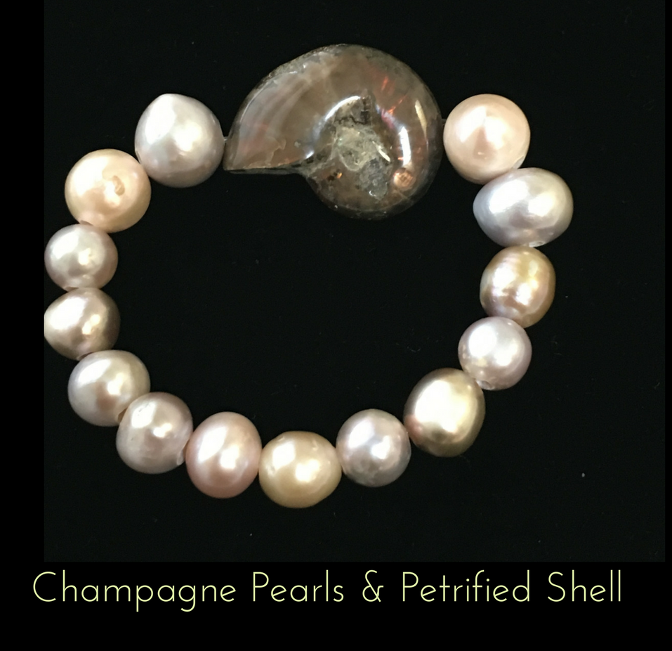 Champagne Pearl & Petrified Shell