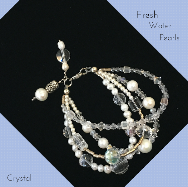 Fresh Water Pearl & Crystal
